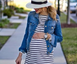 chic, maternity, and summer image