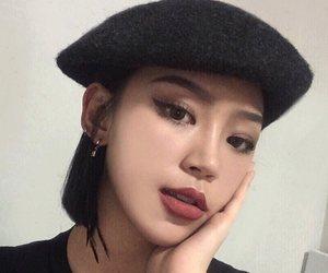 asian, beret, and girl image