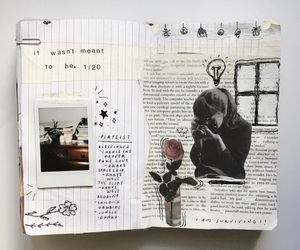 drawing, journal, and book image