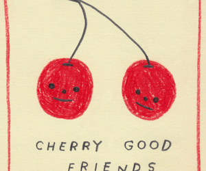 cherry, friends, and art image