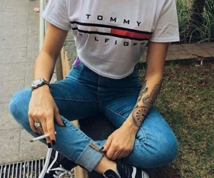fashion, outfit, and tattoo image