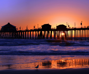 beach, california, and colors image