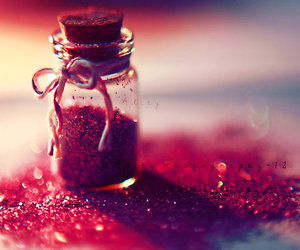 pink, glitter, and red image