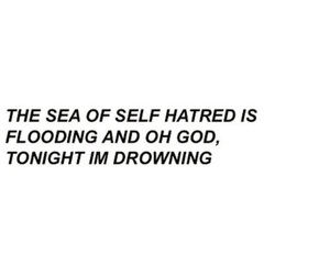 drowning, god, and hate image