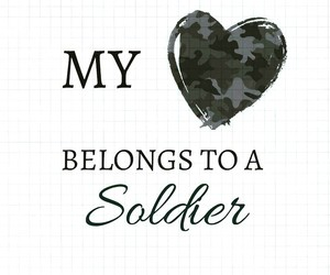 couple, heart, and military image