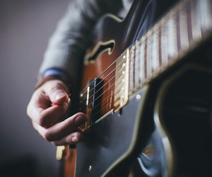 guitar, music, and musician image