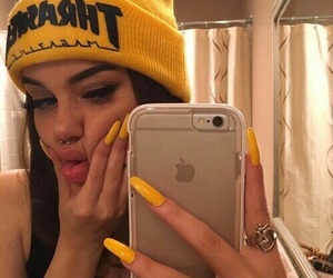 yellow, nails, and tumblr image