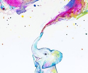 elephant, colors, and drawing image