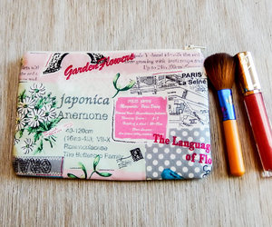 etsy, change pouch, and floral pouch image