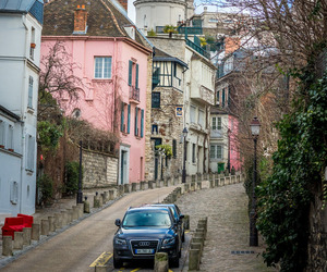 city, france, and montmartre image