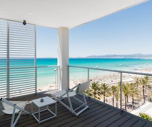 balcony, beach, and luxury image