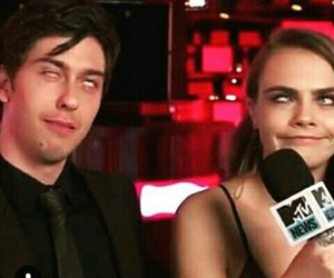 funny, cara delevingne, and nat wolff image