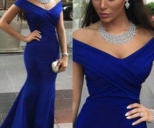 blue, diamonds, and dress image