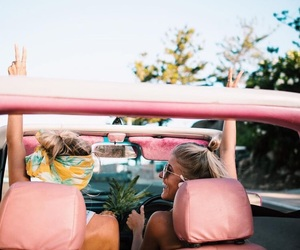 friendship, pink, and summer image