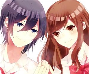 anime, couple, and horimiya image