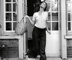 jane birkin, black and white, and vintage image