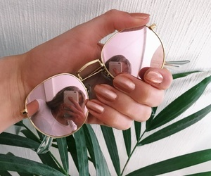 nails, summer, and sunglasses image
