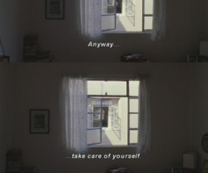 quotes, take care, and grunge image