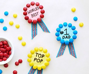 chocolate, m&m's, and dad image