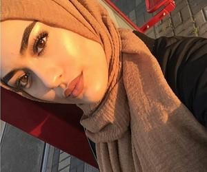 hijab, girl, and beautiful image