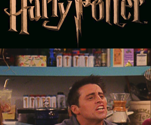 harry potter, f.r.i.e.n.d.s, and joey tribbiani image