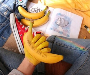 alternative, banana, and converse image