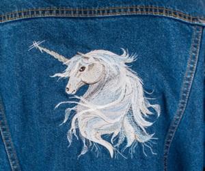 unicorn, jeans, and white image