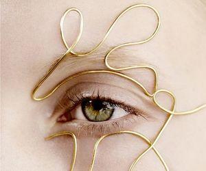 eye, eyes, and gold image