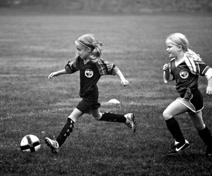 girls and soccer image