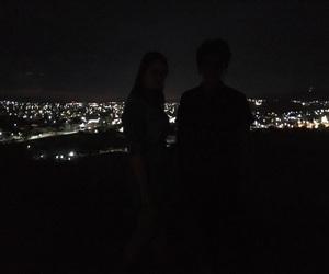city lights, grunge, and night image