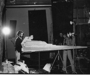 behind the scenes, george lucas, and set image