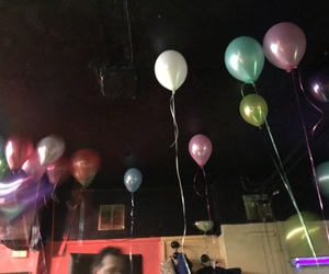 baloons, birthday, and drink image