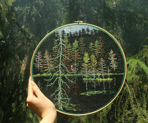 craft, embroidery, and forest image