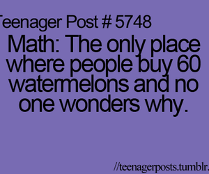funny, math, and watermelon image