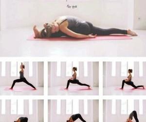 split, yoga, and fitness image