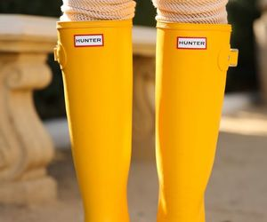 yellow, hunter, and shoes image