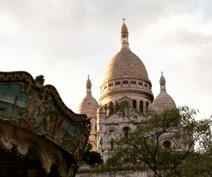 paris and sacre coeur image