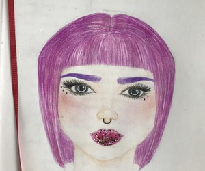 drawing, glitter, and scetch image