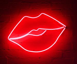 neon, lips, and light image