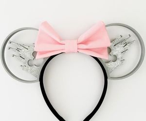 bow, disney, and minnie mouse image