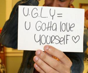 ugly, boy, and quote image