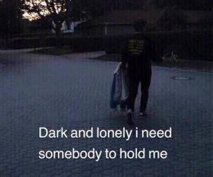 dark, lonely, and grunge image