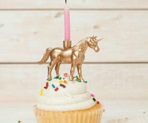 unicorn and birthday cake image
