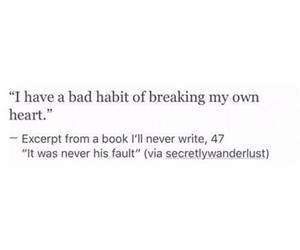 bad, heart, and heartbreak image