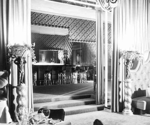 1950, black and white, and luxury image