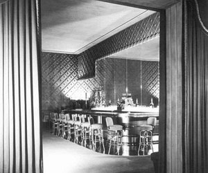 1950, black and white, and interior image