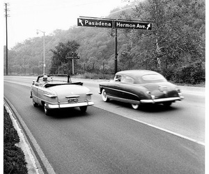 1950, black and white, and california image