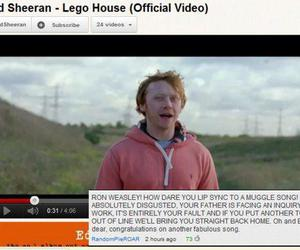 harry potter, rupert grint, and youtube image