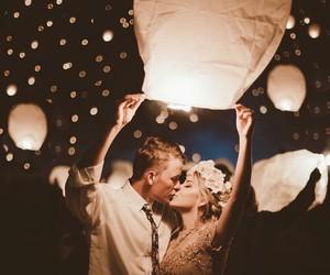 kiss, light, and love image