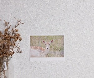 deer, bambi, and flowers image